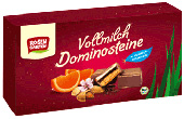 Rosengarten Naturkost Vollmilch Dominosteine Orange
